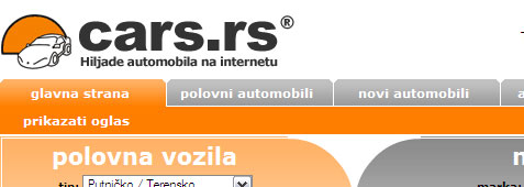 Cars.rs – Hiljade automobila na internetu
