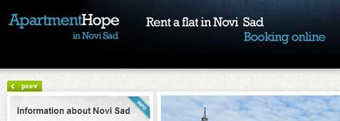 Rent a flat in Novi Sad