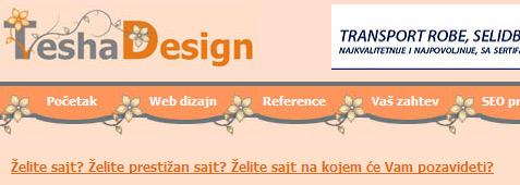 TeshaDesign – Web dizajn i izrada sajtova